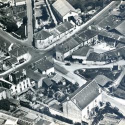 Chalus vue aérienne quartier du pont AVRIL18-07