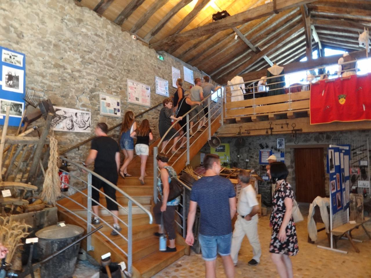 Affluence de visiteurs à l'Éco-musée
