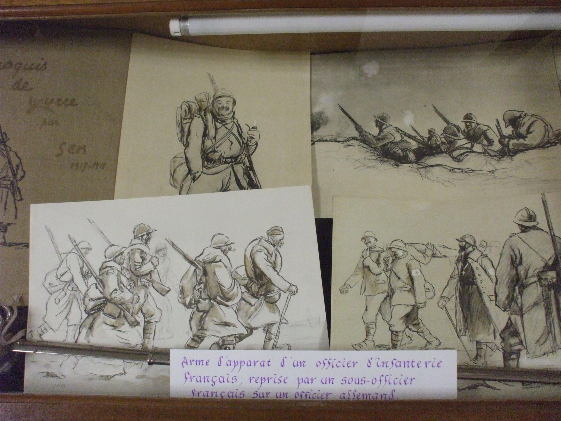 Dessins et croquis de SEB 1916