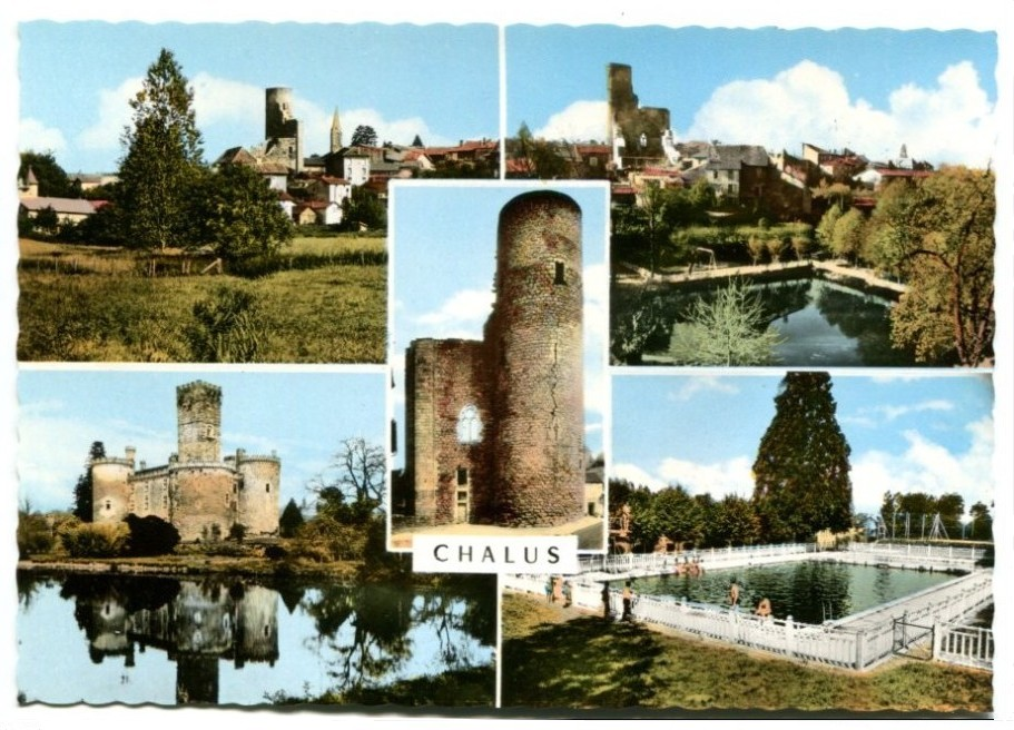 Old Card Pays of Châlus