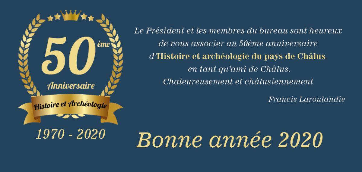 50eme anniversaire bonne année 2020