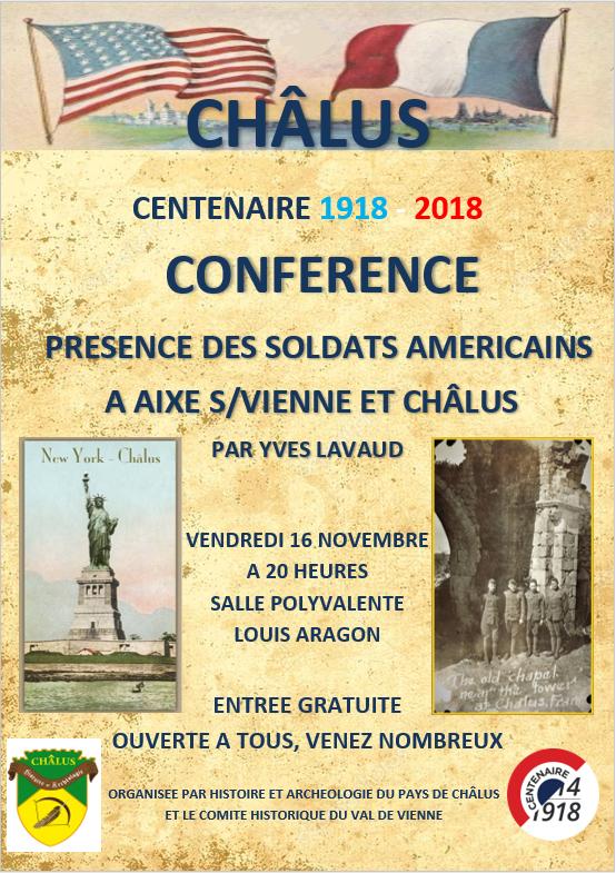 Affiche conférence du 16 novembre 2018