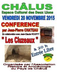 Affiche conference les cluzeaux a chalus