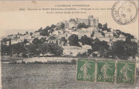 Carte postale ancienne de Chalus en Auvergne
