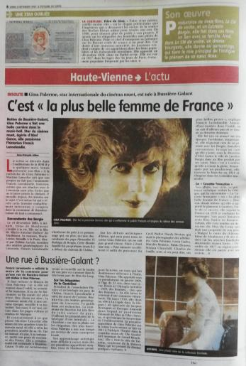 ARTICLE LE POPULAIRE DU CENTRE DU 02 09 19