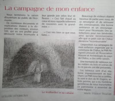 Art. Le Sillon Novembre 2015