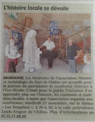 Art Le Populaire du 04/10/2014