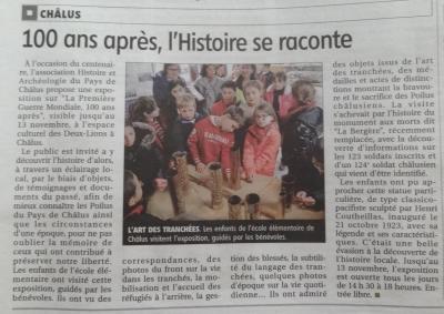 Art Le Populaire du 10/11/2014