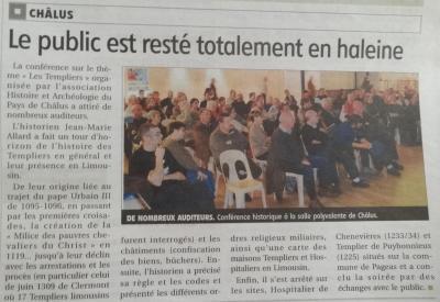Art. Le Populaire du 09/12/2014