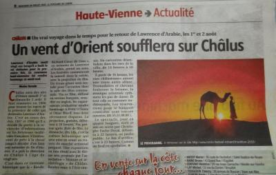 Art. Le Populaire du 29/07/2015