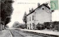 Gare de Champsac en 1921