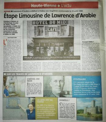 ARTICLE LE POPULAIRE DU CENTRE 01.07.19