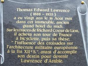Plaque commemorative lawrence