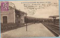 Saint nicolas courbefy la gare arrivee de l express quotidien 1937